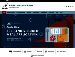 staffordschools.net screenshot