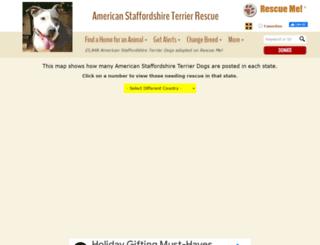 staffordshireterrier.rescueme.org screenshot