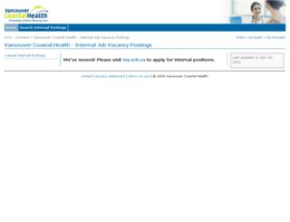 staffpostings.vch.ca screenshot
