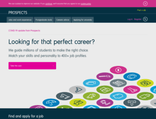 staffs.prospects.ac.uk screenshot