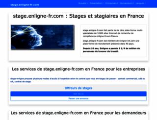 stage.enligne-fr.com screenshot