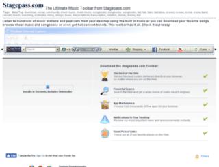 stagepasscom.myradiotoolbar.com screenshot