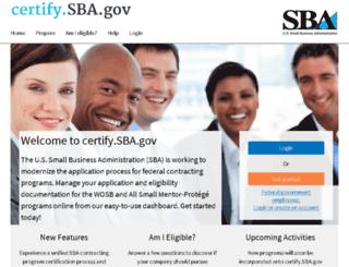staging-certify.sba.gov screenshot