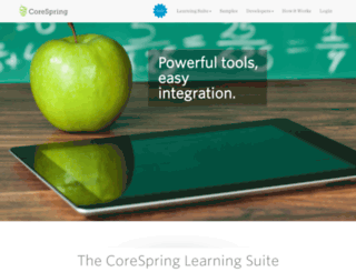 staging.corespring.org screenshot