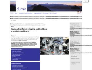 staging.durrer.com screenshot