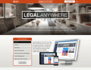 staging.legalanywhere.net screenshot