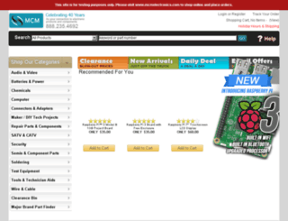 staging.mcmelectronics.com screenshot