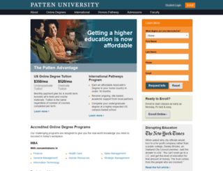 staging.patten.edu screenshot