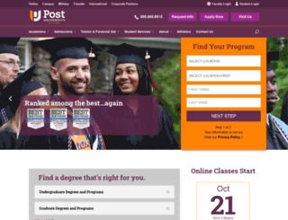 staging.post.edu screenshot
