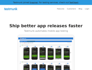 staging.testmunk.com screenshot