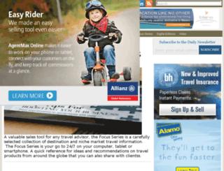 staging.travelagentcentral.com screenshot