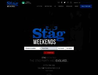 stagweekends.co.uk screenshot