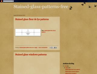 stained-glass-patterns-free.blogspot.com screenshot