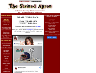 stainedapron.com screenshot