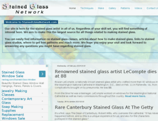 stainedglassnetwork.com screenshot