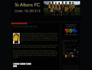 stalbansfc.wordpress.com screenshot