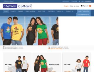 stallioncottons.com screenshot