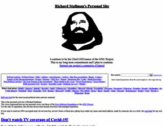 stallman.org screenshot