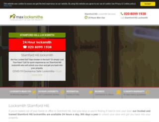 stamfordhillmaxlocksmith.co.uk screenshot
