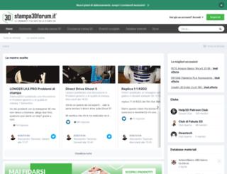 stampa3d-forum.it screenshot