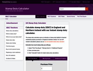 stampdutycalculator.org.uk screenshot