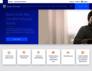 stanbicibtcbank.com screenshot