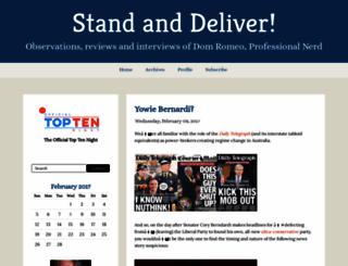 standanddeliver.blogs.com screenshot