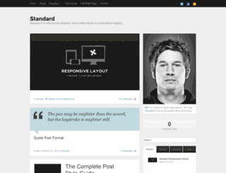 standarddemo.wordpress.com screenshot