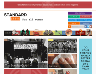 standardissuemagazine.com screenshot