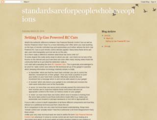 standardsareforpeoplewhohaveoptions.blogspot.com screenshot