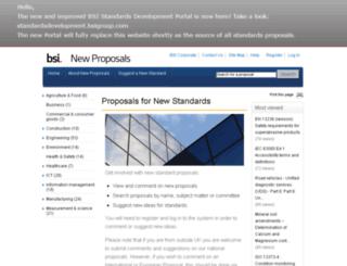 standardsproposals.bsigroup.com screenshot