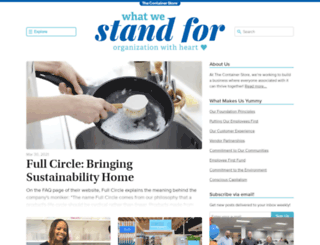 standfor.containerstore.com screenshot