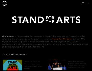 standforthearts.com screenshot