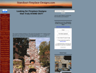 standout-fireplace-designs.com screenshot