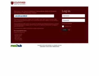 stanford.medhub.com screenshot