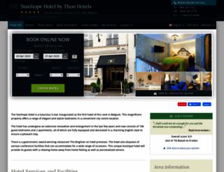stanhope-hotel-brussels.h-rez.com screenshot