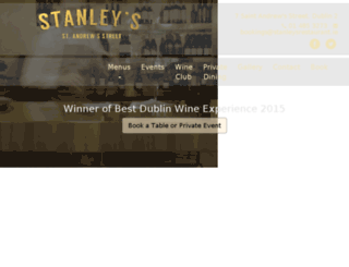 stanleysrestaurant.ie screenshot