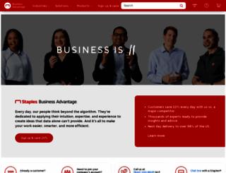 staplesadvantage.com screenshot