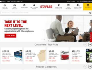 staplescustomprinting.com screenshot