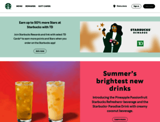 starbucks.ca screenshot