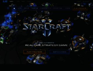 starcraft2.com screenshot