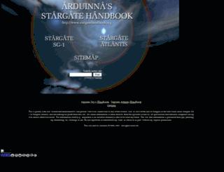 stargatehandbook.org screenshot