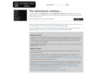 stargatenovels.com screenshot