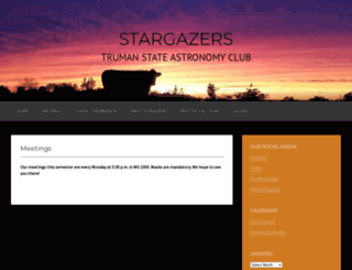 stargazers.truman.edu screenshot
