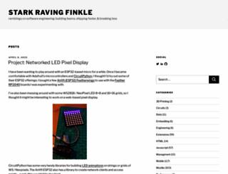 starkravingfinkle.org screenshot