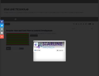starline-technolab.blogspot.com screenshot