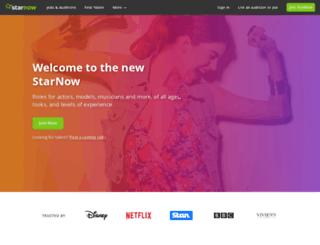 starnow.com screenshot
