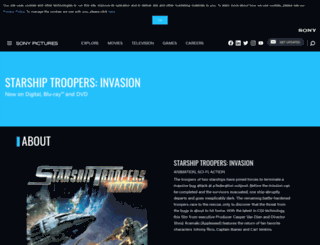 starshiptroopersinvasion-movie.com screenshot