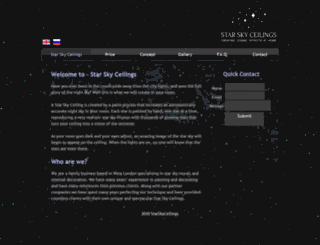 starskyceilings.com screenshot