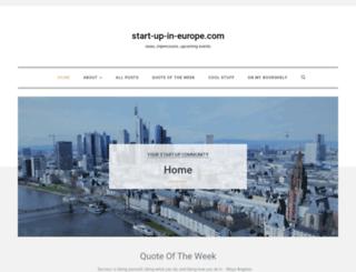 start-up-in-europe.com screenshot